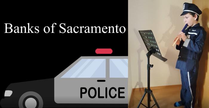 """Theo Vordermayer mit seiner Blockfloete als cooler Polizist in """"Banks of Sacramento"""