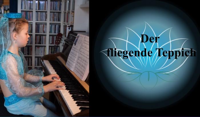 """Valentina Scheungrab als orientalische Prinzessin am Klavier beschwor sie """"Der fliegende Teppich"""