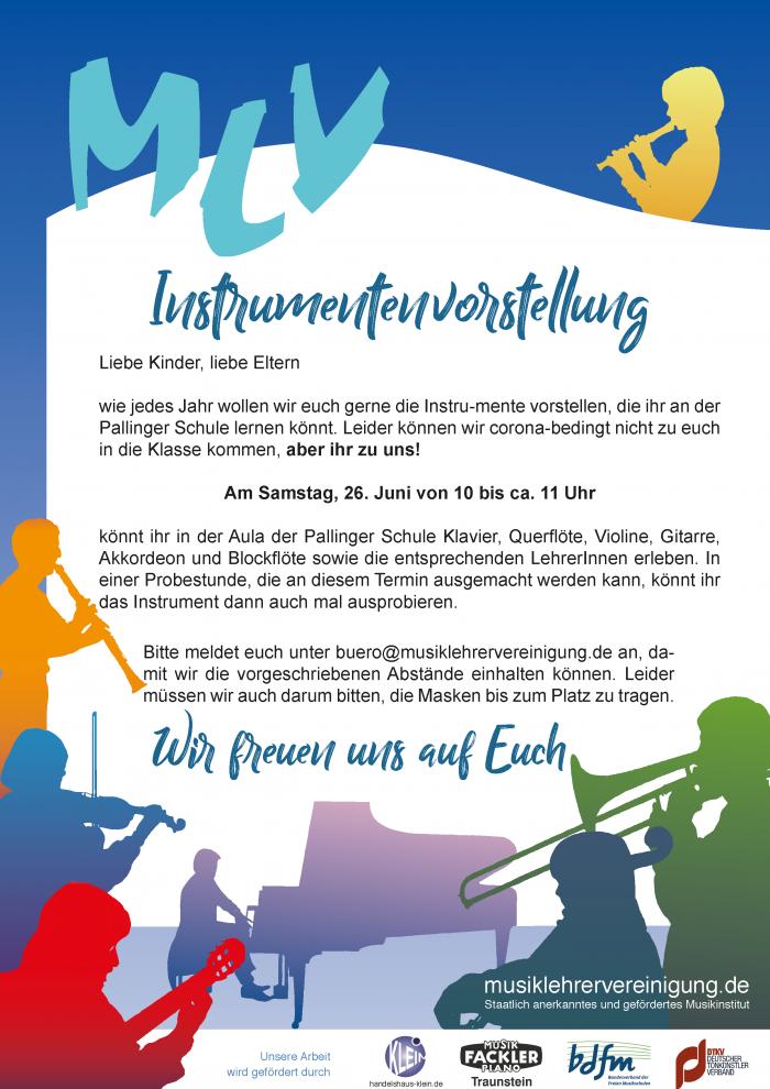 Plakat Instrumentenvorstellung Palling Juni 21